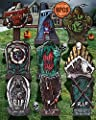 """17"""" Tombstones Halloween Decor, 9pcs RIP Halloween Tombstones & Cemetery Decoration Scary Large Graveyards Yard Signs for Outside Lawn Party Haunted House Décor Clearance Halloween Decorations Outdoor"""