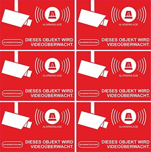 bester Test von gesetzliche krankenkassen im Geschütztes Alarmetikett – 6 Alarmsätze 52 × 35 mm – Rechteck – Rot
