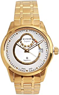 Casual Watch for Men by Accurate, Gold, Round, AMQ1740
