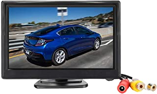 Padarsey 5 Inch TFT LCD Car Color Rear View Monitor Screen for Parking Rear View Backup Camera with 2 Optional Bracket(Suc...