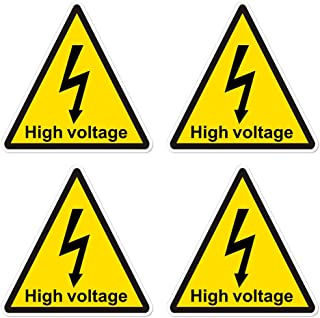high voltage decal