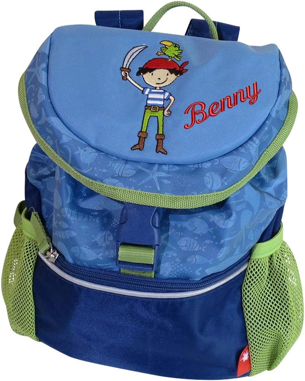 Sigikid Kindergarten Rucksack Pirat mit Namen Besteickt grün grün grün blau 30 cm x 12 cm x 26 cm Sammy Samoa Kinderrucksack personalisiert B07NT2PZ6T | 2019  eccc9e