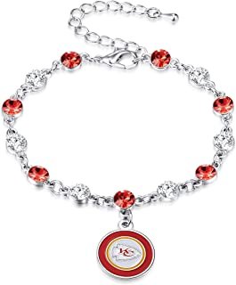NFL Two Tone Crystal Bracelet