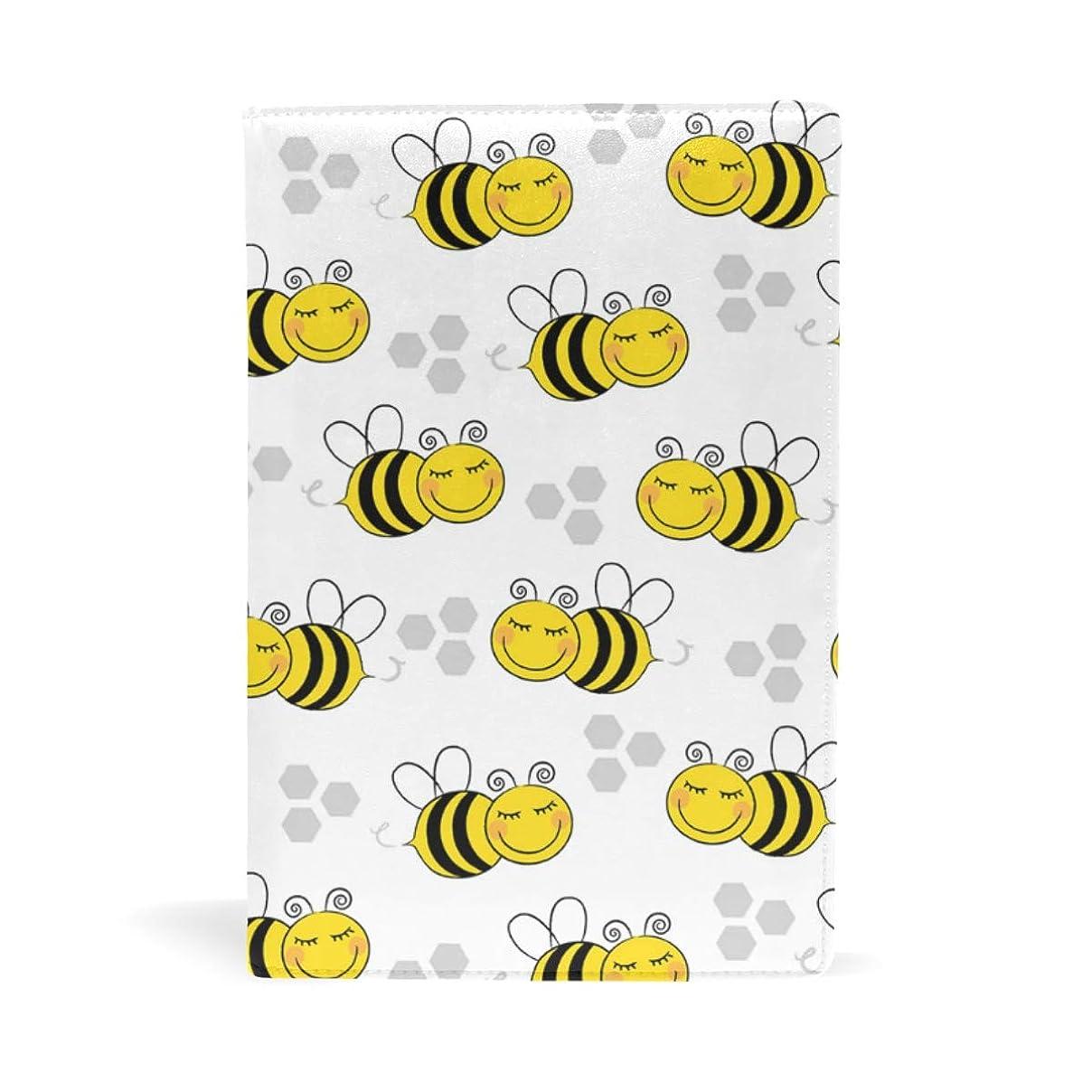 穏やかな変化代わりにを立てるミツバチ ブックカバー 文庫 a5 皮革 おしゃれ 文庫本カバー 資料 収納入れ オフィス用品 読書 雑貨 プレゼント耐久性に優れ