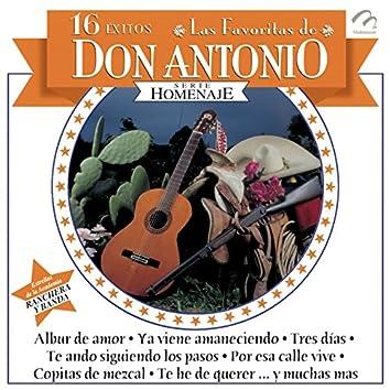 16 Éxitos - Las Favoritas de Don Antonio - Serie Homenaje