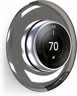 elago Wall Plate Cover for Nest Learning Thermostat 3rd, 2nd, 1st generation (Polished Steel) - Luxurious Design, Easy Installation, Anti-Discoloration Coated, Soft Finish, Durable Material