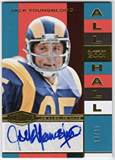 Jack Youngblood 2018 Panini Plates & Patches All Hall Auto Serial #14/65 Los Angeles Rams Autograph