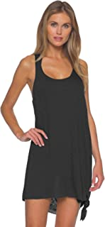 Becca by Rebecca Virtue Women's Scoop Neck Tie Side Pullover Dress Swim Cover Up