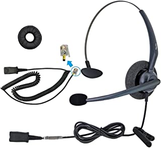 DailyHeadset RJ9 Mono Corded Phone Headset Noise Cancelling Mic for Cisco IP Phone 6941 6945 6961 7940 7942 7945 7960 7962 7970 7971 7975 and M10 M12 A20 S20