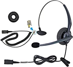 DailyHeadset RJ9 Mono Corded Phone Headset for Cisco IP Phone 6941 6945 6961 7940 7942 7945 7960 7962 7970 7971 7975 with Noise Cancelling Microphone