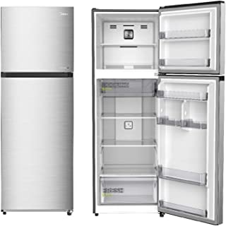 Midea Refrigerator MDRT489MTE46, Recessed Handle, Silver Finish, 338 Ltrs Net Capacity, With Chiller, 2 Glass Shelves, 1 y...