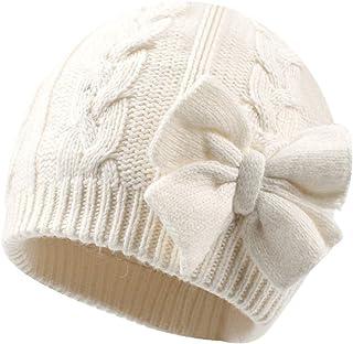 کلاه مخصوص بچه گانه بافتنی زمستانه گرم زمستانی دخترانه پنبه ای با روکش پنبه ای دخترانه کلاه پاییز کمان ناز کلاسیک دخترانه Beanie 0-2Y