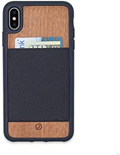 JIMMYCASE iPhone 8/7/6 Plus Wallet Case Handcrafted in USA • Real Mahogany • Ultra Slim Protective Credit Card/Wallet Case • Holds Six Cards & Cash