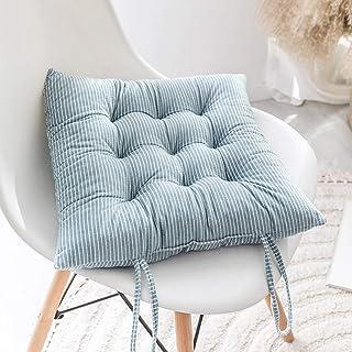 Marrone 2 Pezzi ZLJ Set di 2//4 Cuscini per sedie 40 x 40 cm Cuscini per sedili con Lacci Morbidi e Comodi Cuscini Quadrati per sedie da Pranzo Cucina Soggiorno Patio Giardino Interno Esterno
