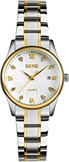 SKMEI 9101 Watch Men Brand Quartz Stainless Steel Daily Waterproof Calendar Round Dial Wrist Fashion Business Watch