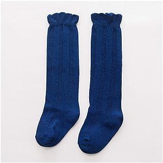 LiuQ, Calcetines Hasta Rodilla Niñas Primavera verano bebé niñas algodón rodilla alto calcetines niños niña largo calcetines largos calcetines de doble aguja Niña ( Color : Dark blue , tamaño : 7 to 10t )