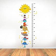 Rawpockets 'Solar System and Height Measurements Chart' Wall Sticker (PVC Vinyl, 45 cm x 110cm), Multicolour