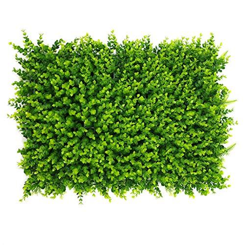 RDJSHOP Hedge Artificial Plant Wall Boxwood Green Ivy Privacy Fence Screening Home Garden Decoración de la Pared al Aire Libre 40x60cm (Color : 02)