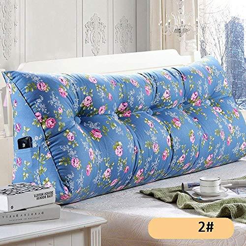 YLCJ Hoofdbord kussens voor nachtkastje Driehoekig kussen Lumbar kussen Zachte koffer Slaapbank Achterkant grote wasbare kant, 6 kleuren, 6 maten (Kleur: A, Afmetingen: 200 2323 50 cm)
