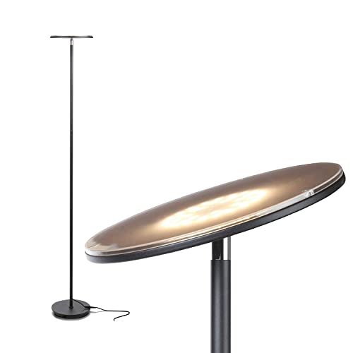 Brightech Sky LED Torchiere Super Bright Floor Lamp   Tall Standing Modern  Pole Light For Living