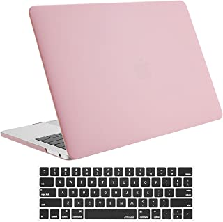 ProCase MacBook Pro 13 Case 2019 2018 2017 2016 Release A2159 A1989 A1706 A1708, Hard Case Shell Cover and Keyboard Skin Cover for Apple MacBook Pro 13 Inch with/Without Touch Bar and Touch ID –Pink