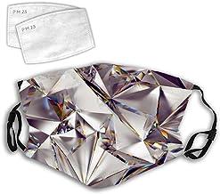 Tocado de tela con filtro para la cara con diseño de calavera de la muerte y el sol de verano, con filtro, color Diamante. talla única