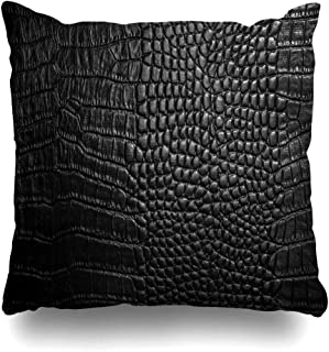 KJONG Crocodile Leather Crocodile Leather Alligator Skin Picture Printing Square DecorativePillow Case 20 x 20inch Zippered Pillow Cover for Bedroom Living Room(Two Sides Print)
