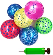 Mimgo-shop Inflatable Beach Balls with Pump, Swimming Pool Party Favors Water Play Outdoor Beach Toys for Adults and Kids (6 Pcs Assorted Colors)