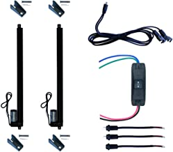 WindyNation (2pcs) 12 Volt, 225 lbs Linear Actuators + Up Down DPDT Switch + Mounting Brackets + Connectors (Momentary or Maintained Up Down Switch) (20