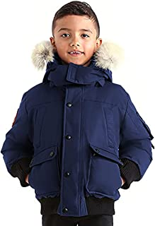 Grinnell Boys Hooded Arctic Bomber Jacket with Real Coyote Fur