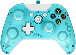 Wired Controller for Xbox One/Xbox One S/Xbox One X/PC, USB Wired Gamepad Controller with Dual Vibration (Green)