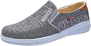 HCFKJ - Zapatillas de Lona Transpirables para Hombre