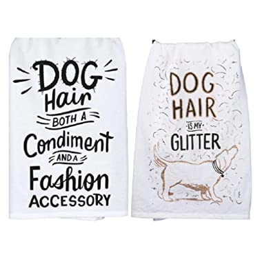 Primitives by Kathy Dog Hair Kitchen 2 Piece Towel Set