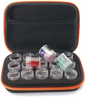 15 Botellas Diamante Pintura Funda de Almacenamiento Eva Caja Almacenamiento DIY Manicura Diamante Pintura Pendientes Cuentas