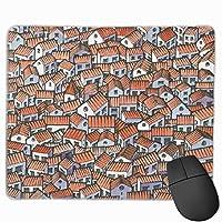 混雑した建物 マウスパッド 25×30 大判 ノンスリップ 防水 ゲーミング おしゃれ マウスの精密度を上がる