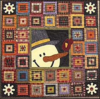 Cabin Friends Snowman Christmas Holiday Primitive Gatherings Wool Quilt Pattern