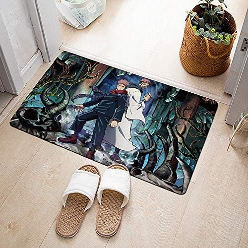 GUANGZHENG Jujutsu Kaisen Floor Mat Dos Personas Volver al patrón Trasero Alfombra Anime Aseo Aseo Aseo ASP Mat Anterior Decoración del hogar Mat de pie Adultos y niños