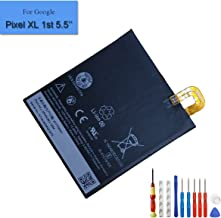 New Replacement Battery Compatible with Google Pixel XL 1st 5.5-inch 3450mAh 3.85V B2PW2100 Built-in Battery 35H00263-00M + Tools