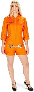 Orange Prisoner Jumpsuit Adult Costume