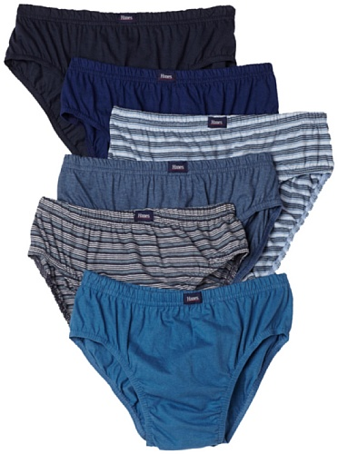 Hanes Classic Sport Brief 6-Pack Underwear, Assorted Solids/Heat, Large