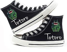 Jzdhlsc Unisex Totoro,Black Chaussures De Toile D'Anime Chaussures De Marche Confortables Et Décontractées