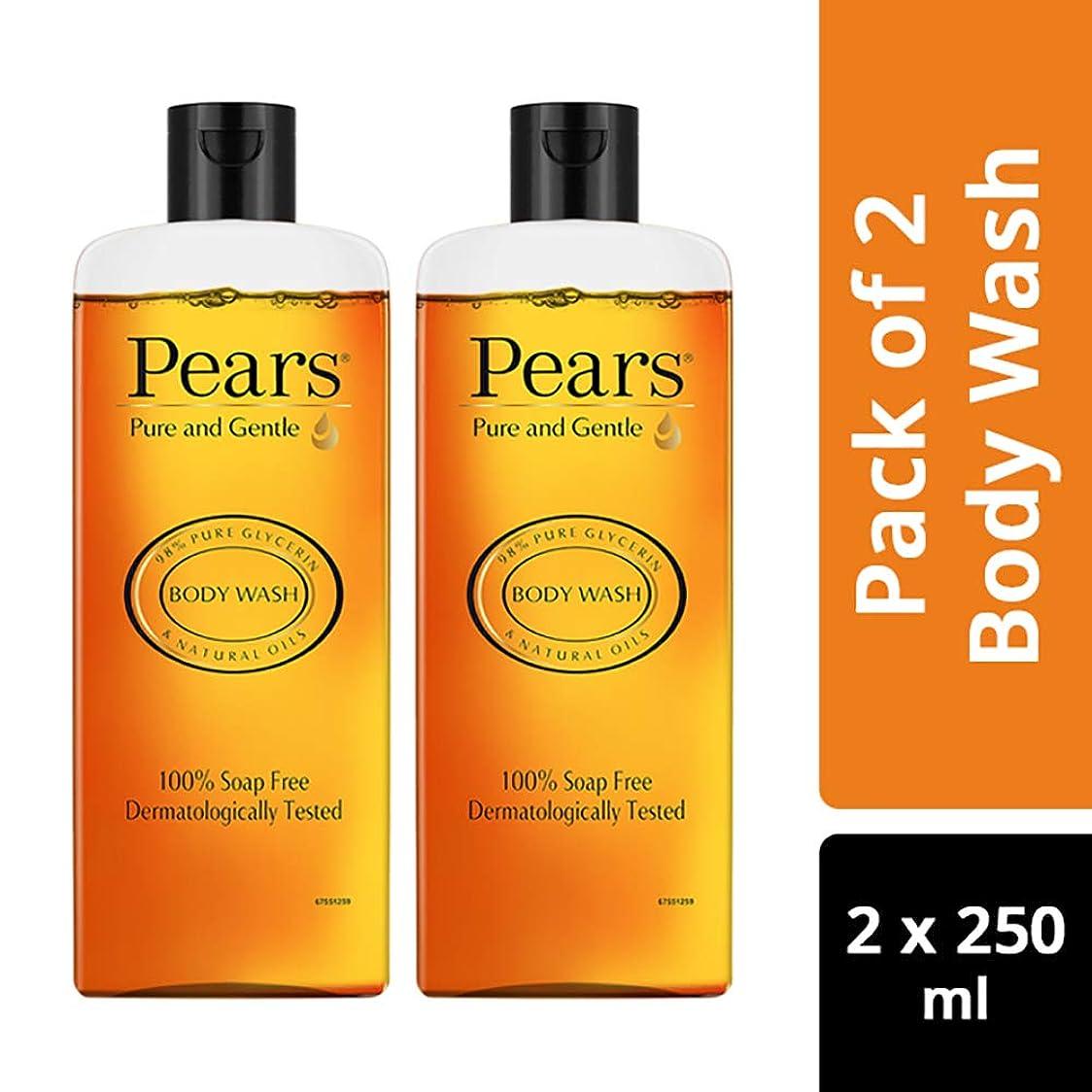 アテンダント着替える衝突するPears Pure And Gentle Body Wash, 250ml (Pack Of 2)