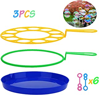 B bangcool Bubble Wands Set - Big Bubbles Wand Funny Bubbles Maker, Nice for Outdoor Playtime & Birthday Party & Games, Suitable for All Age People (15 PCS)