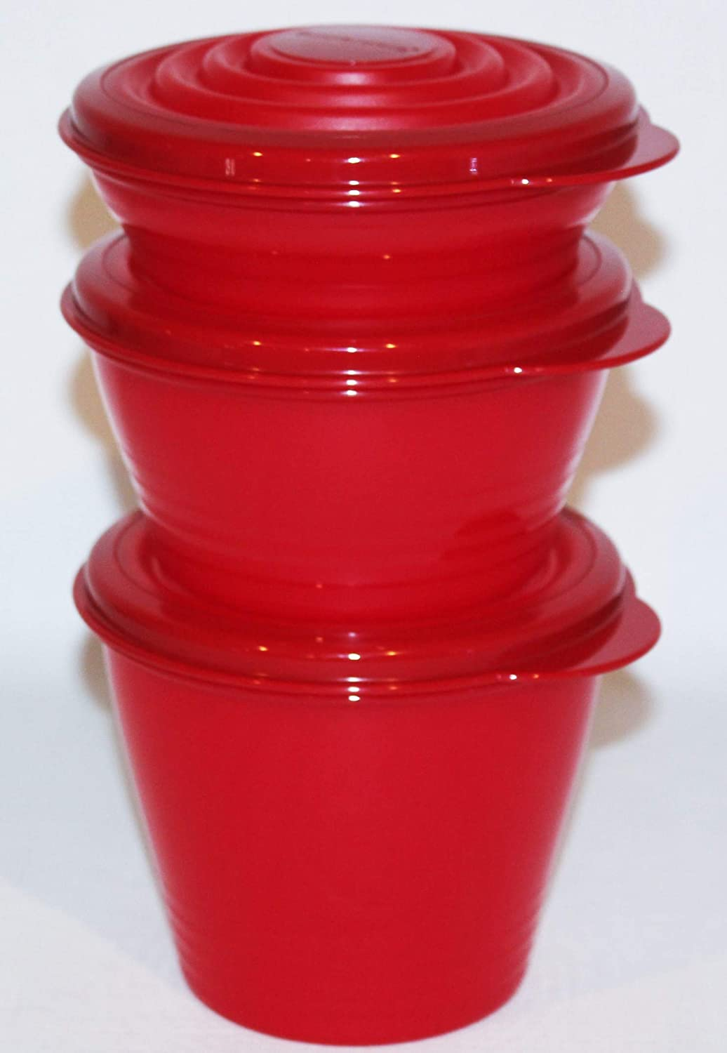 Tupperware Max Ranking TOP18 43% OFF Stuffables Set of Bowls Red 3 Mini