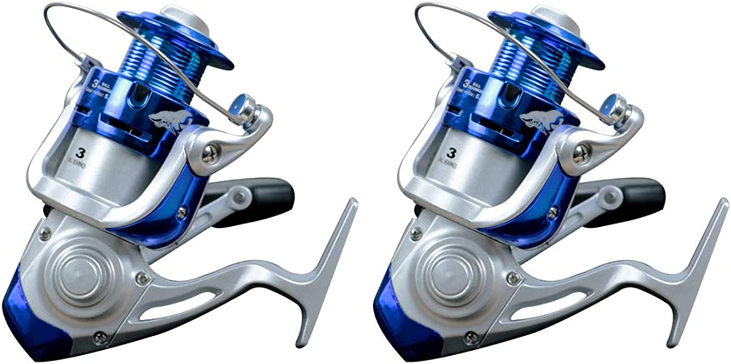 Fishing Reel, Front Drag Metal Spinning Left Right Interchangeable Anchor Fish Wheel Fishing Gear Tackle