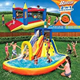 Inflatable Water Slide & Bounce House (Combo Pack) - Huge Heavy Duty Outdoor Kids Adventure Park Pool with Built in Sprinkler Wave and Slide PLUS Large BONUS 12'x9' Bounce House - FREE Blower Included