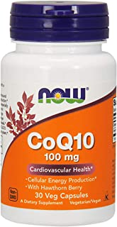 Now Foods CoQ10 with Hawthorn Berry, Veg Capsules, 100mg,30ct