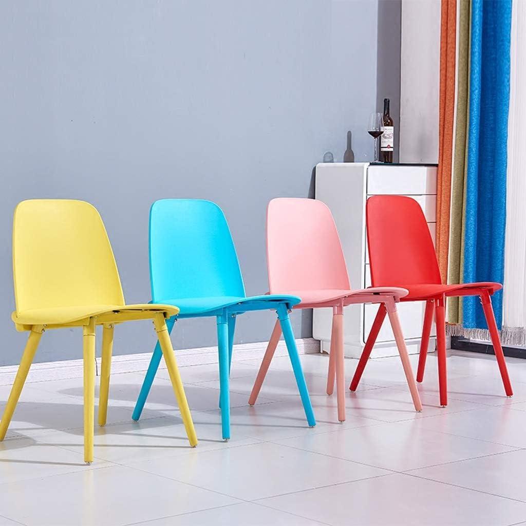 LF Chaise de Salle, Chaise de Bureau Simple, créative Dossier, Chaise Loisirs, Maison Adulte Chaise de Salle Simple (Color : Yellow) Pink
