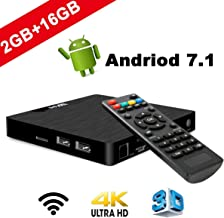 DOOK Android 7.1 TV Box W95 2GB RAM 16GB ROM Amlogic S905W Quad-Core 64-bit Arm Cortex-A53 CPU 2.4G WiFi Ethernet Compatible 3D 4K H.265 Smart Media Player