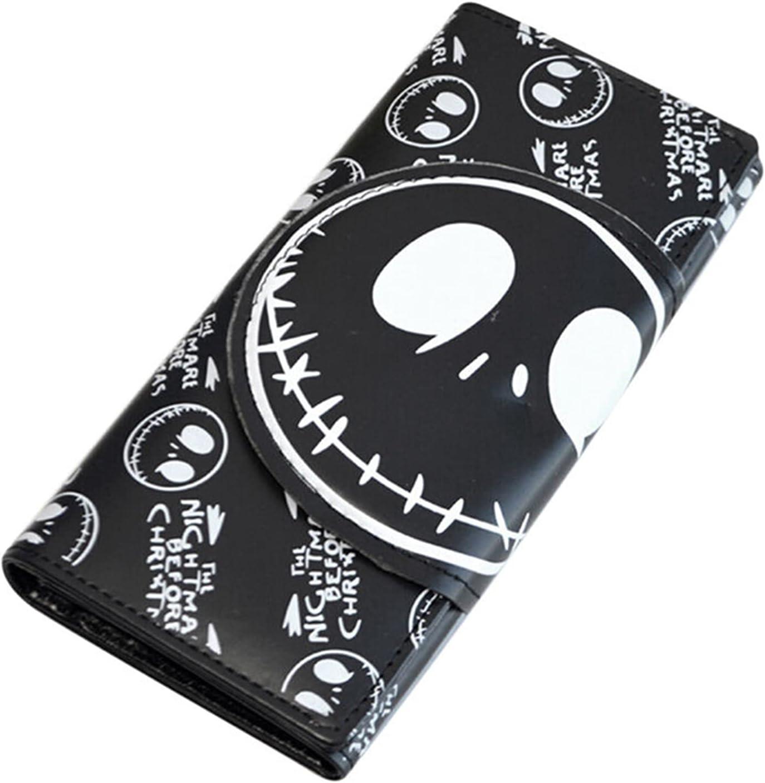 Anime Nightmare Wallets Cheap mail order specialty store Unisex Thriller Jack Cartoon Movie Houston Mall Skull